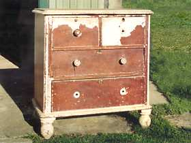 Red cedar chest of drawers