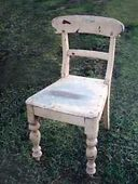 Red cedar chair circa 1880's before restoration